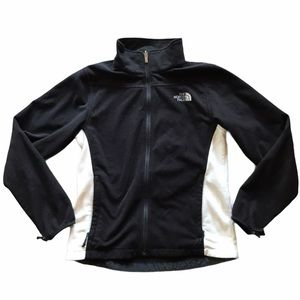 The North Face Black and White Full Zip Fleece